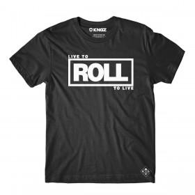 Tee Shirt JJB Kingz Roll To Live Noir